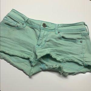 Bullhead Mint Green Shorts